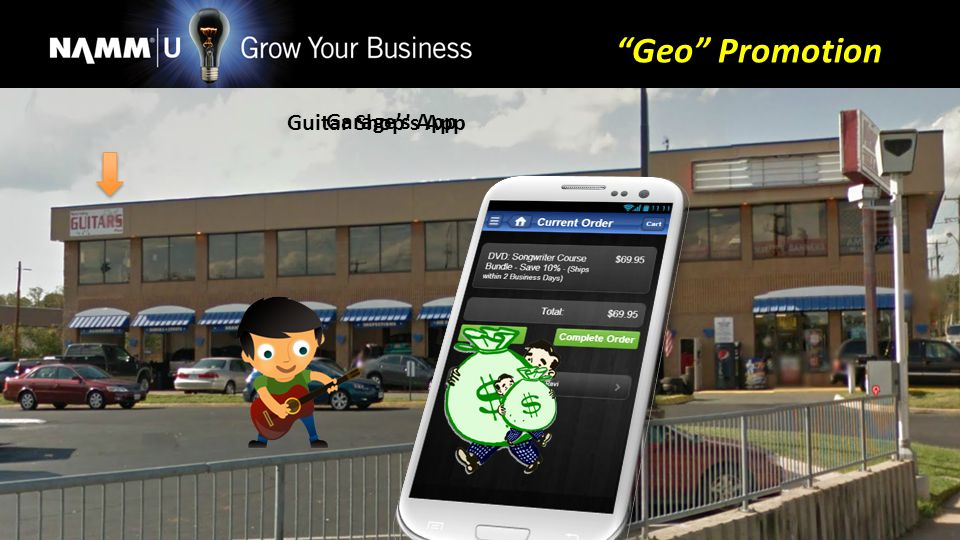 Garages App Guitar Shops App Geo Promotion