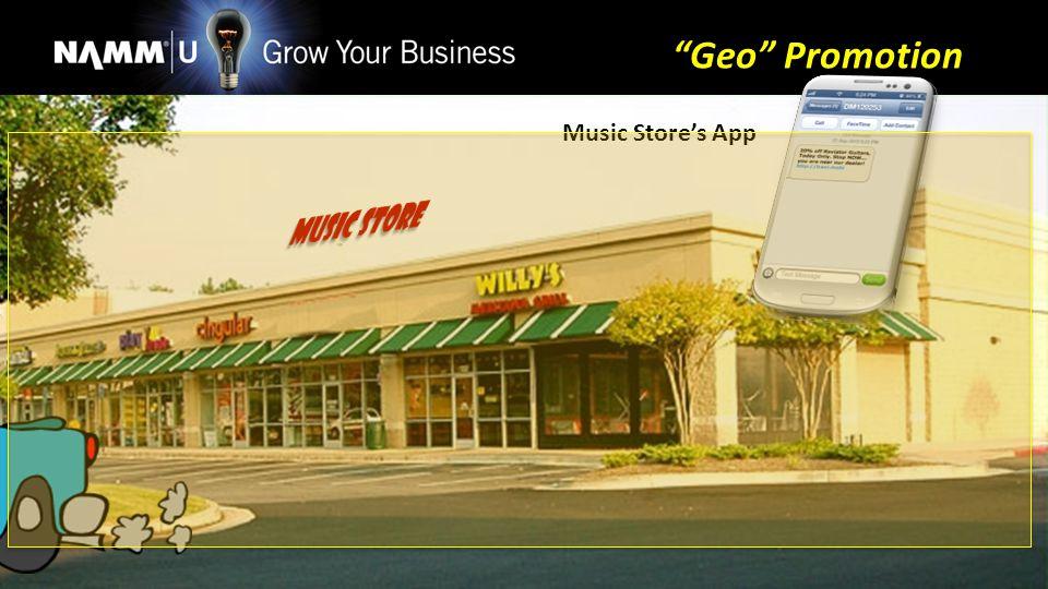 Music Stores App Geo Promotion