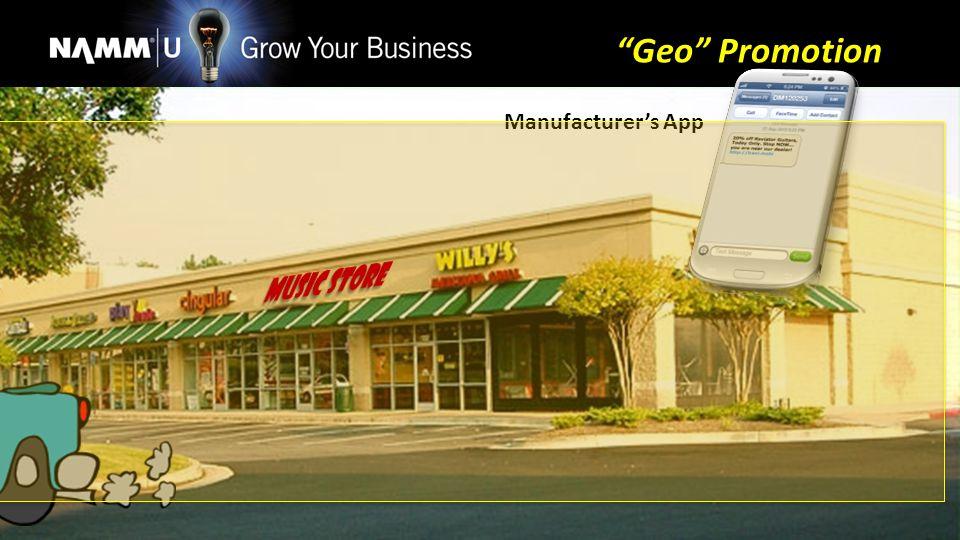 Manufacturers App Geo Promotion