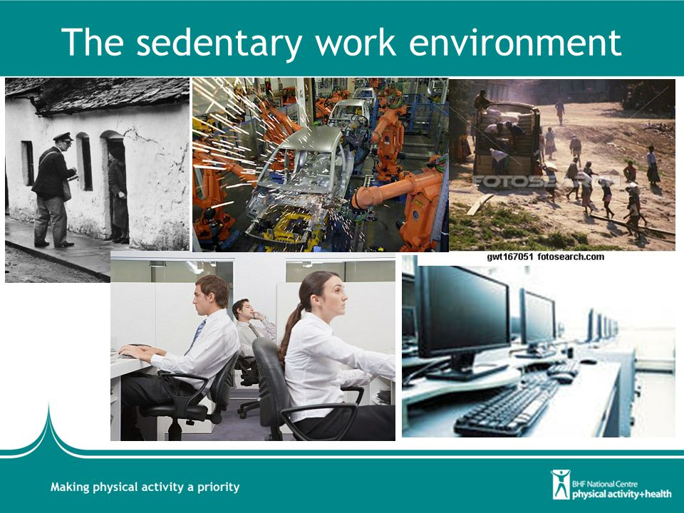 The sedentary work environment