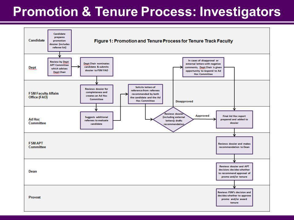 Promotion & Tenure Process: Investigators