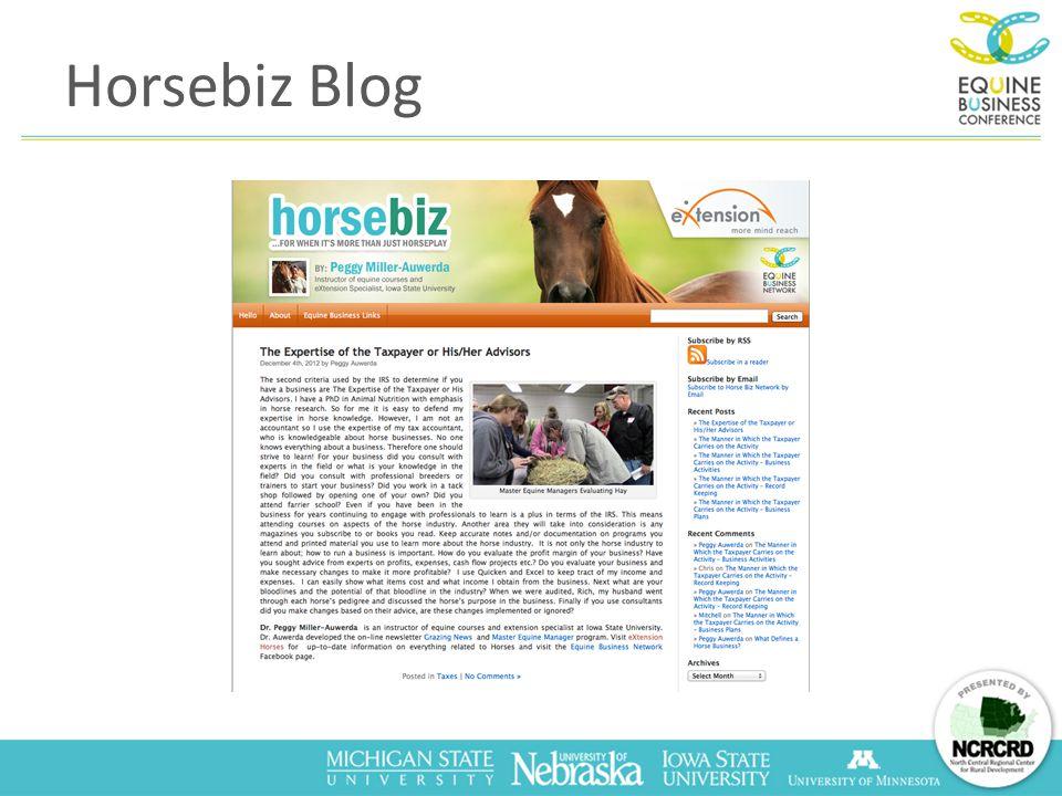 Horsebiz Blog