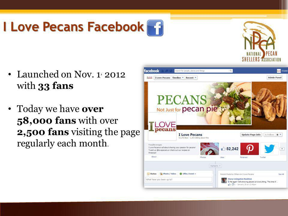 I Love Pecans Facebook Launched on Nov.