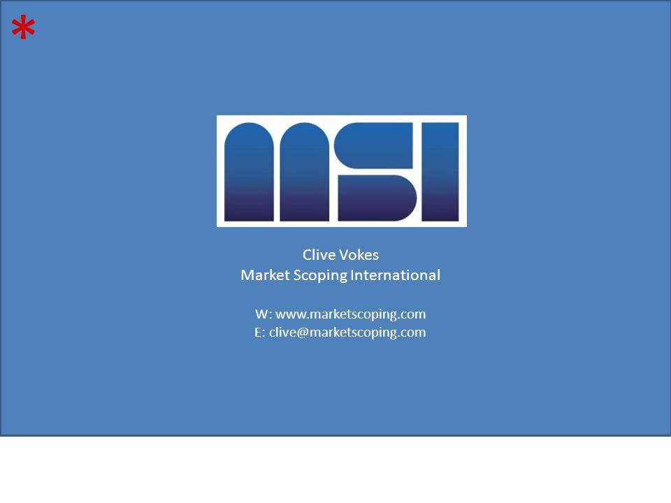 * Clive Vokes Market Scoping International W: www.marketscoping.com E: clive@marketscoping.com