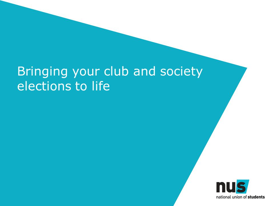 Bringing your club and society elections to life