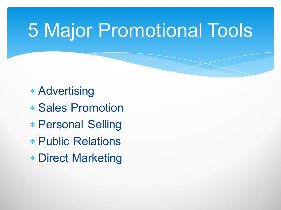 Advertising- Any paid form of non- personal presentation and promotion of ideas, goods, or services by an identified sponsor Can include: – Broadcasting – Print – The Internet Advertising