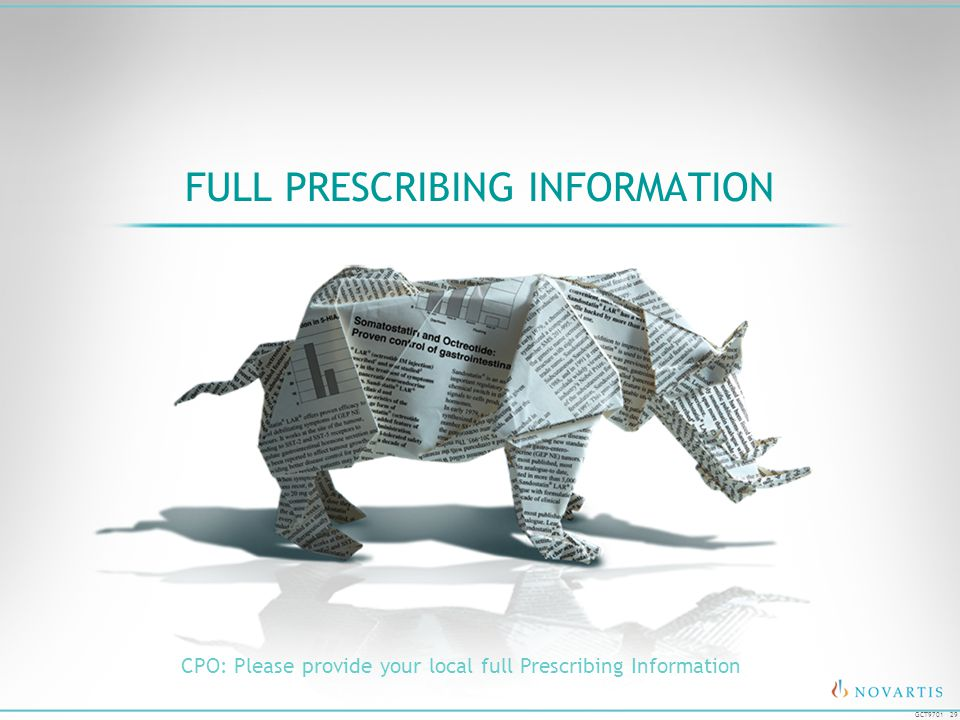 29 GCT9701 FULL PRESCRIBING INFORMATION CPO: Please provide your local full Prescribing Information