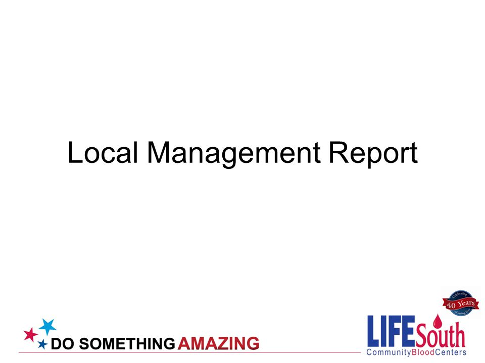 Local Management Report
