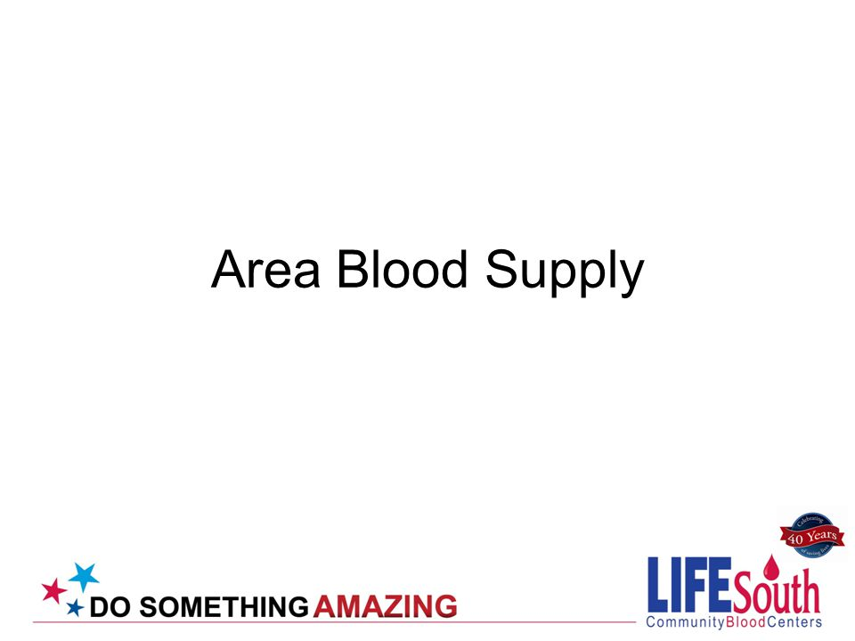 Area Blood Supply