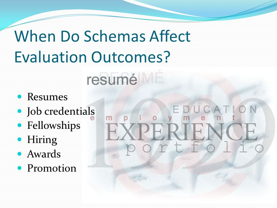 When Do Schemas Affect Evaluation Outcomes.