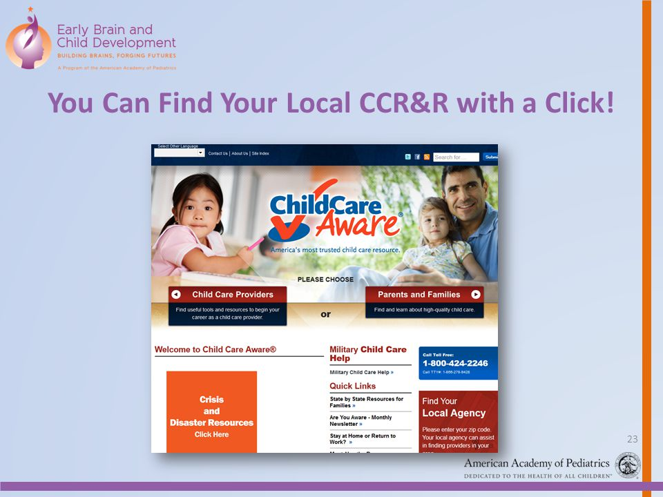 You Can Find Your Local CCR&R with a Click! 23