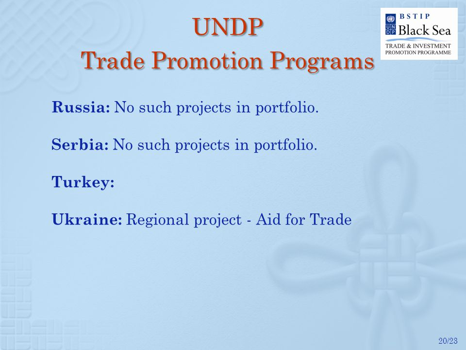 20/23 Russia: No such projects in portfolio. Serbia: No such projects in portfolio.