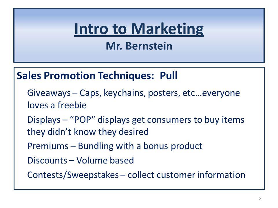 Intro to Marketing Mr.