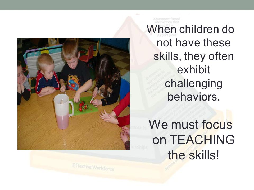 Most challenging behaviors are used by children as a way to communicate something.