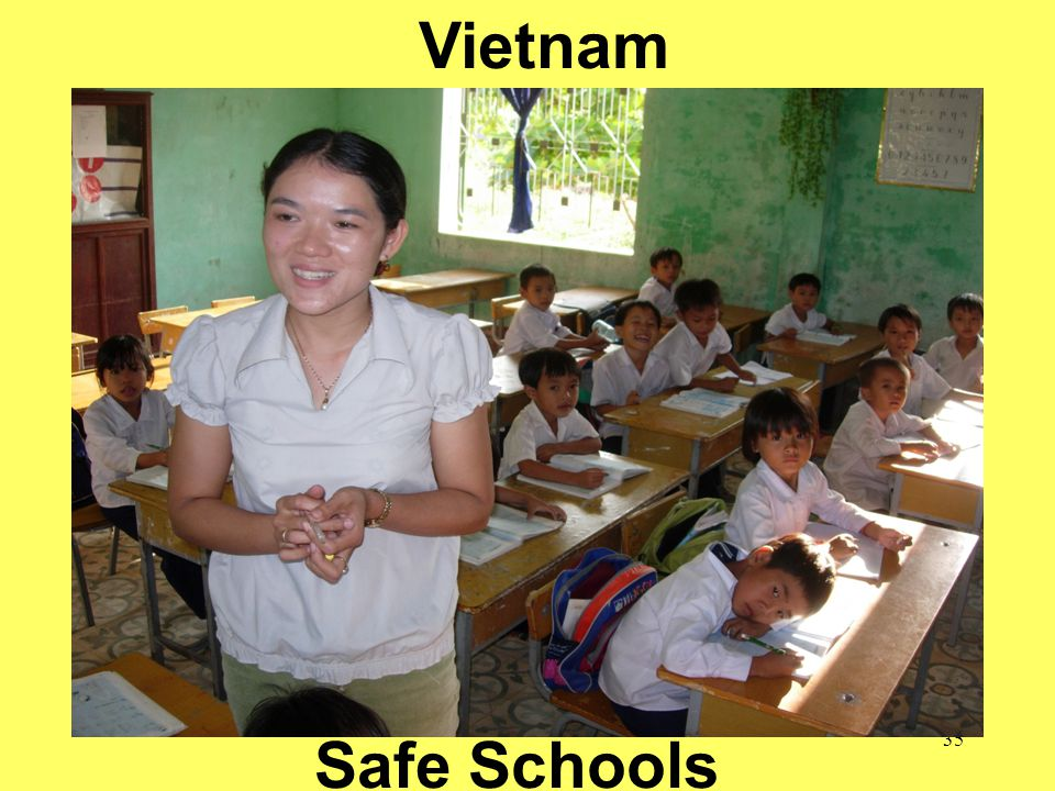 35 School of Public Health = Safe Communities Vietnam Safe Schools