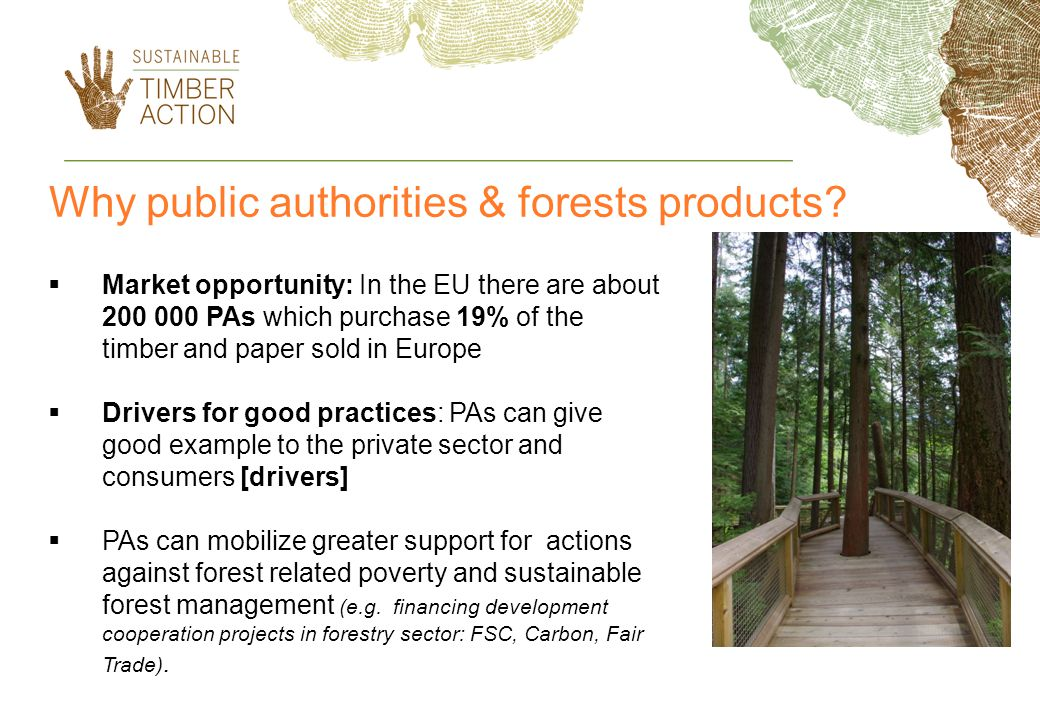 Why public authorities & forests products.