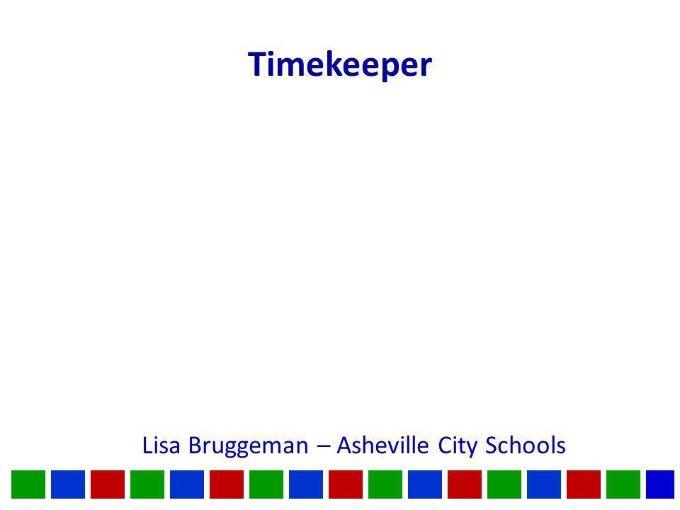 Timekeeper Lisa Bruggeman – Asheville City Schools
