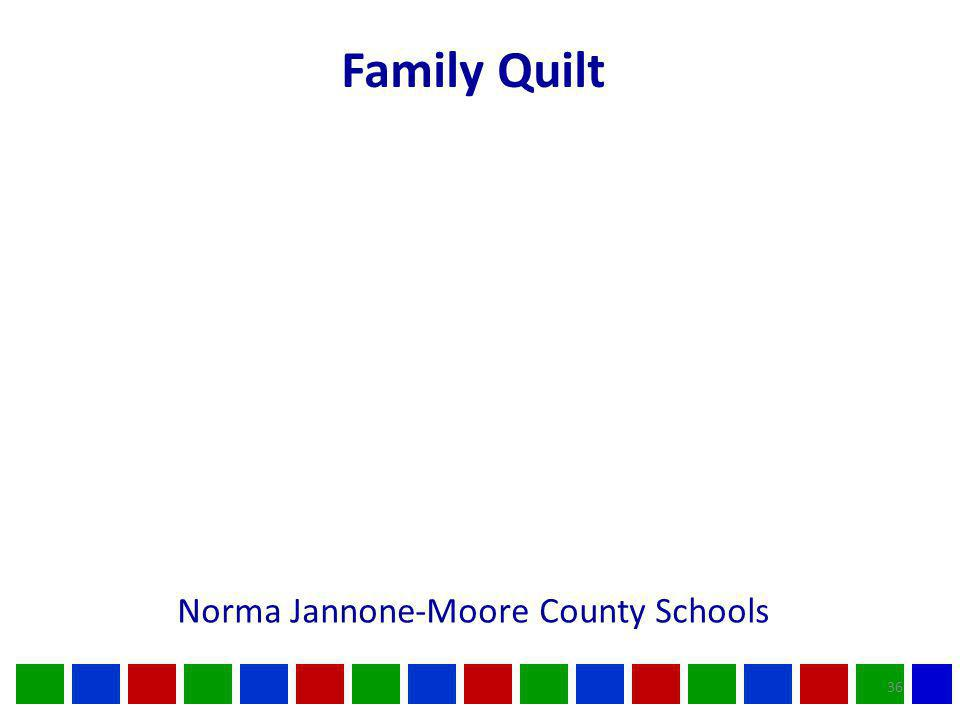 36 Norma Jannone-Moore County Schools Family Quilt