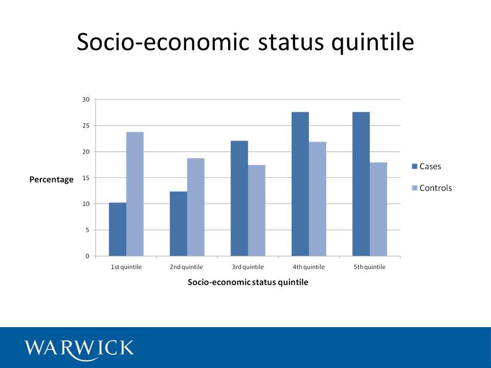 Socio-economic status quintile