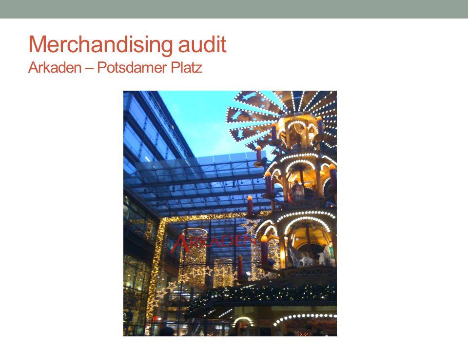 Merchandising audit Arkaden – Potsdamer Platz