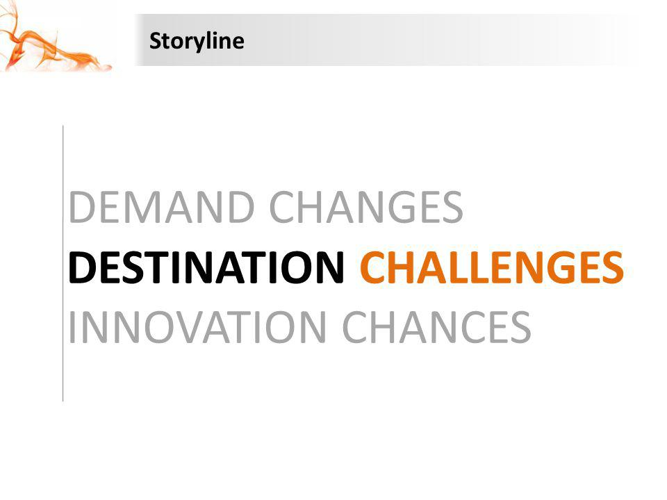 DEMAND CHANGES DESTINATION CHALLENGES INNOVATION CHANCES Storyline