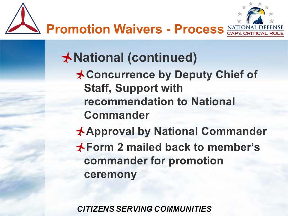 CITIZENS SERVING COMMUNITIES References CAPR 35-5, dated 27 Dec 2012 CAPR 39-3, dated 28 Dec 2012 CAPR 52-16 CAPR 60-3 CAPR 60-6 CAPR 62-1 CAPR 100-1 CAPR 174-1 CAPR 190-1 CAPR 210-1 CAPR 280-2