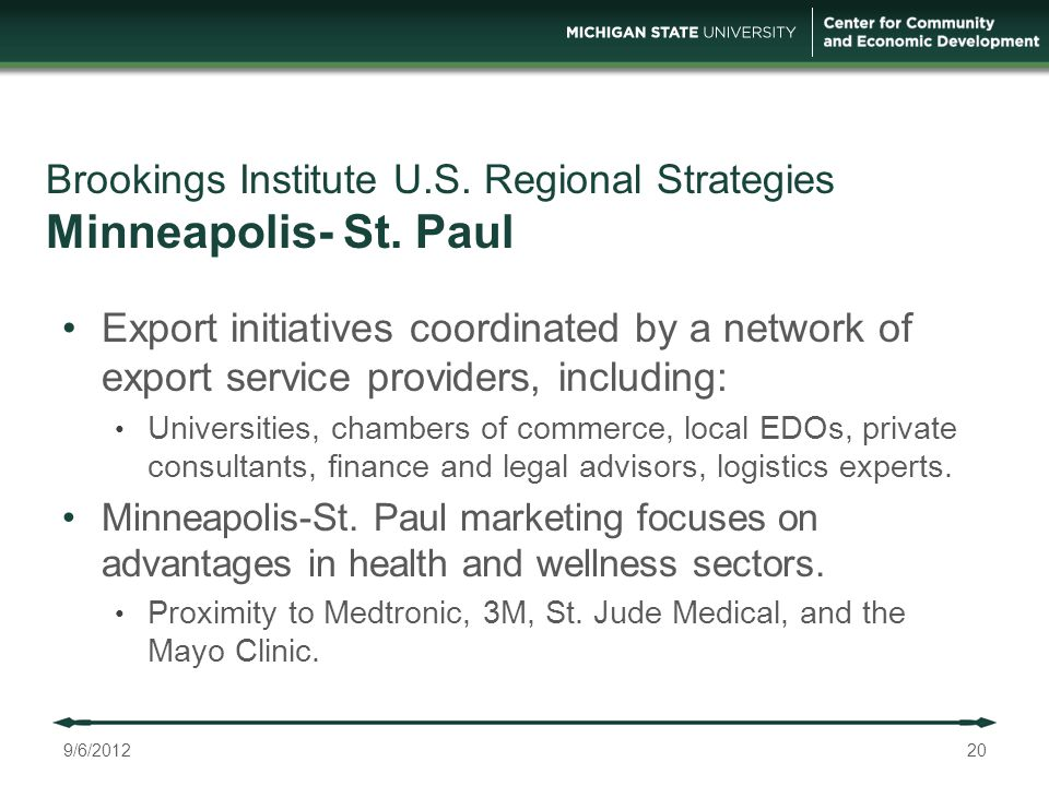 Brookings Institute U.S. Regional Strategies Minneapolis- St.