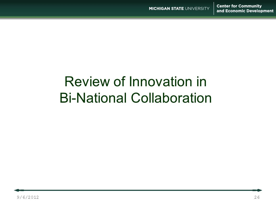 26 Review of Innovation in Bi-National Collaboration