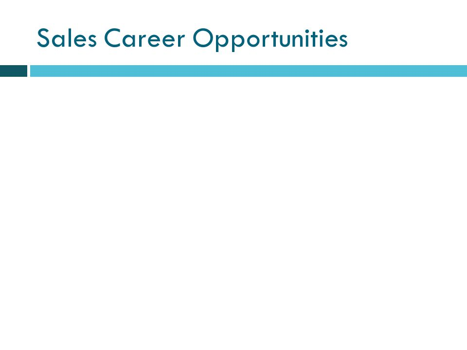 Sales Career Opportunities