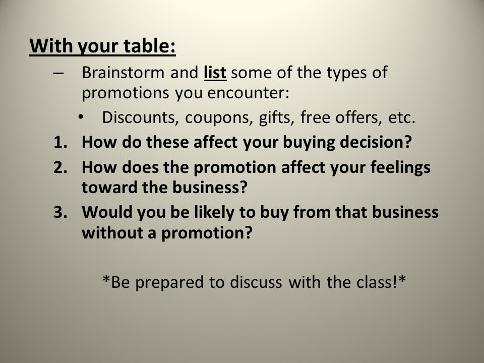 What You Will Learn The characteristics of sales promotion The concept of trade promotions The different kinds of consumer sales promotions