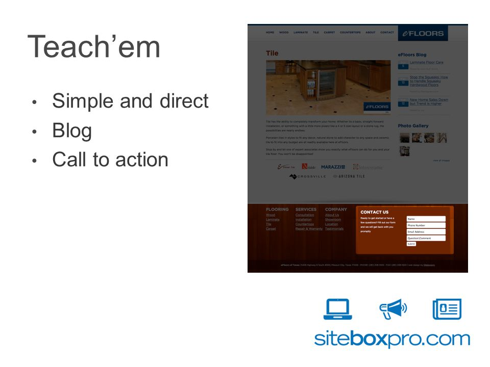 Teachem Simple and direct Blog Call to action