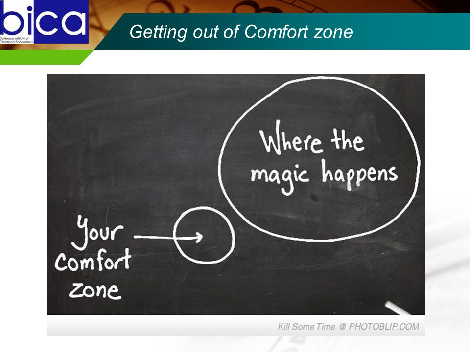 Getting out of Comfort zone