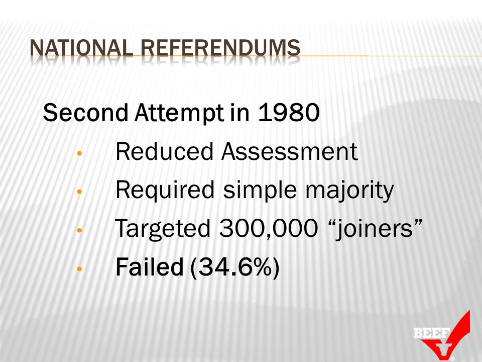 Second Attempt in 1980 Reduced Assessment Required simple majority Targeted 300,000 joiners Failed (34.6%)