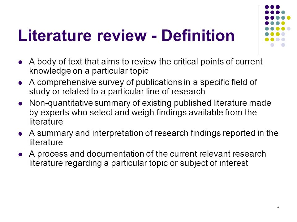 What is a Literature Review? - In Depth Evaluation of
