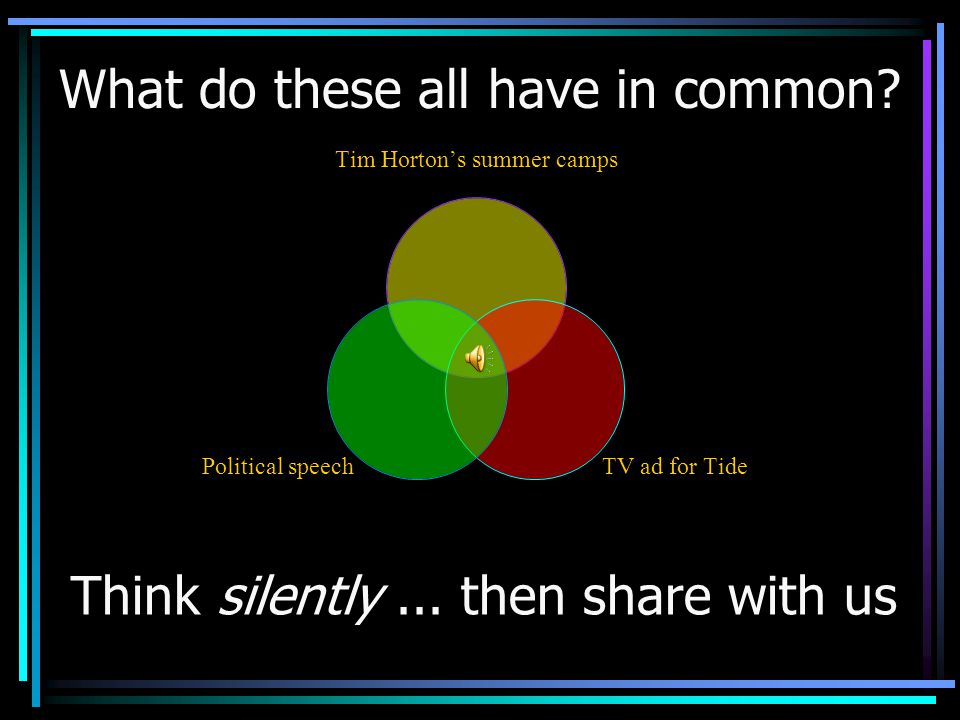 Tim Hortons summer camps TV ad for Tide Political speech Think silently...