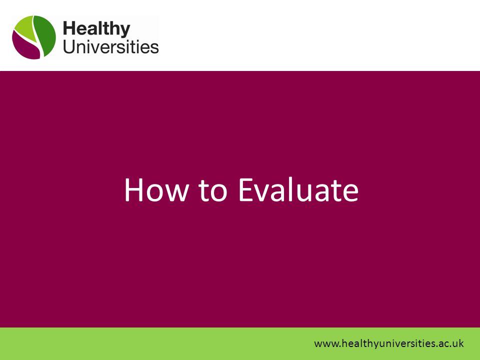 How to Evaluate www.healthyuniversities.ac.uk