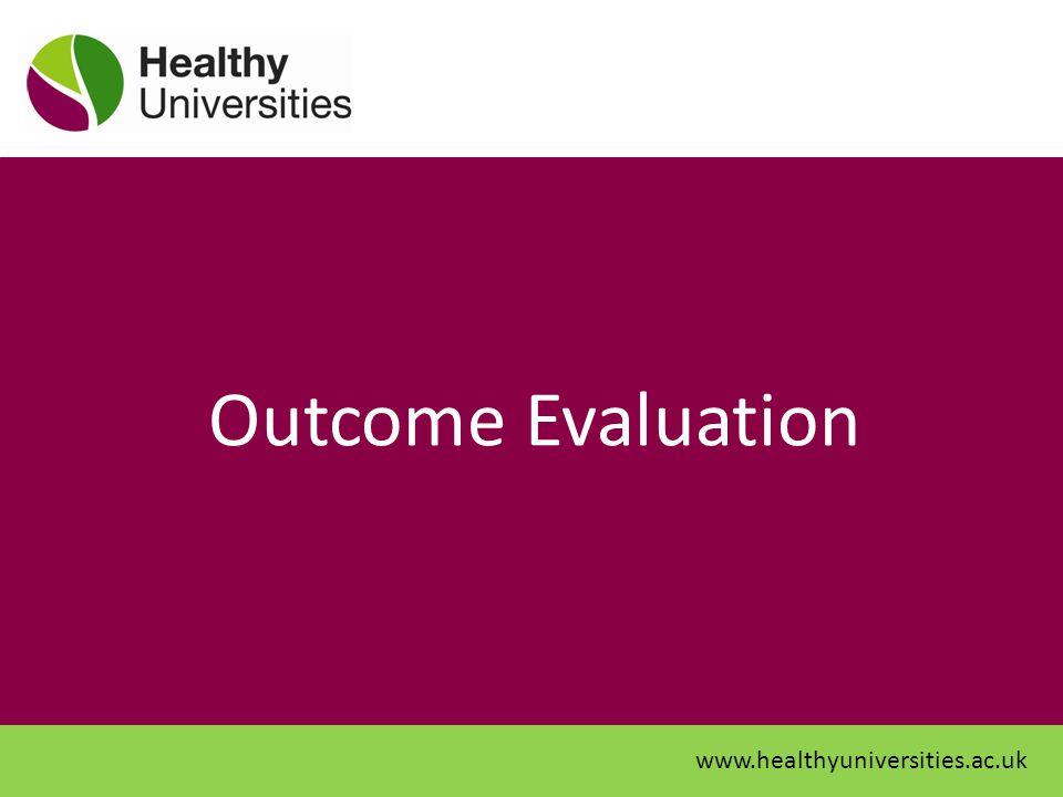 Outcome Evaluation www.healthyuniversities.ac.uk