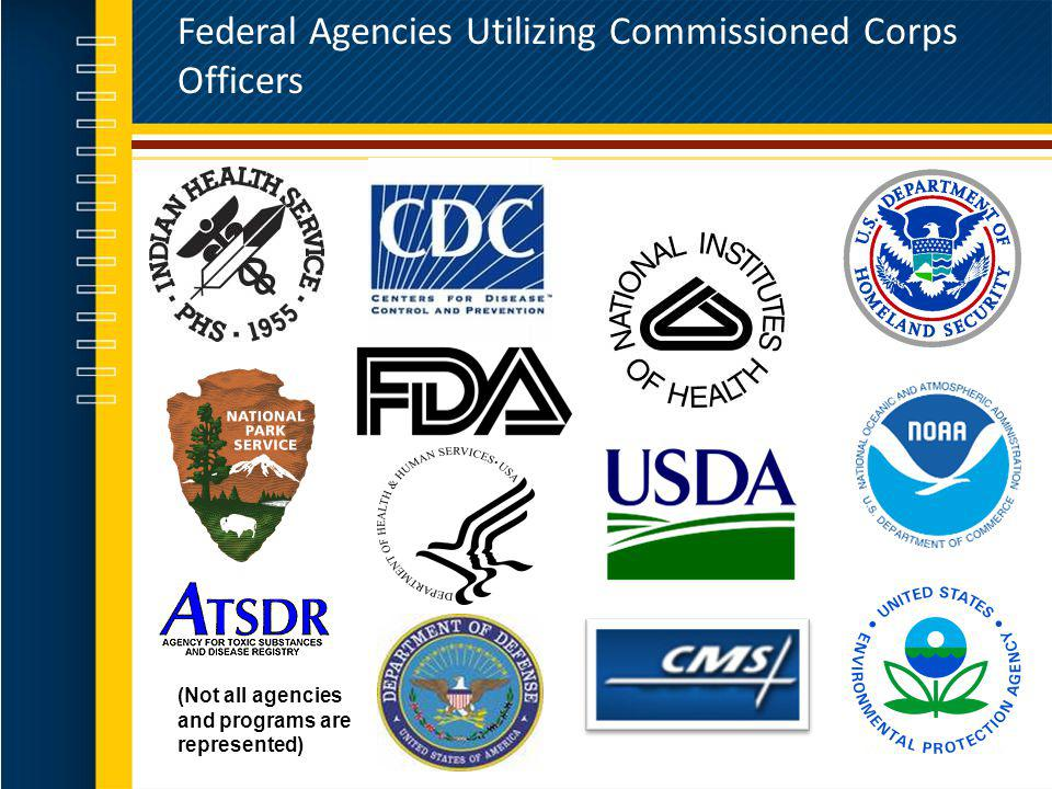 Federal Agencies Utilizing Commissioned Corps Officers (Not all agencies and programs are represented)