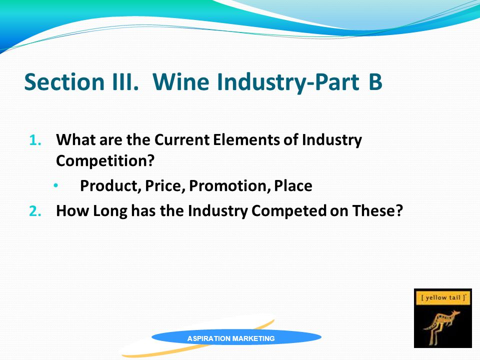 ASPIRATION MARKETING Section III. Wine Industry-Part B 1.