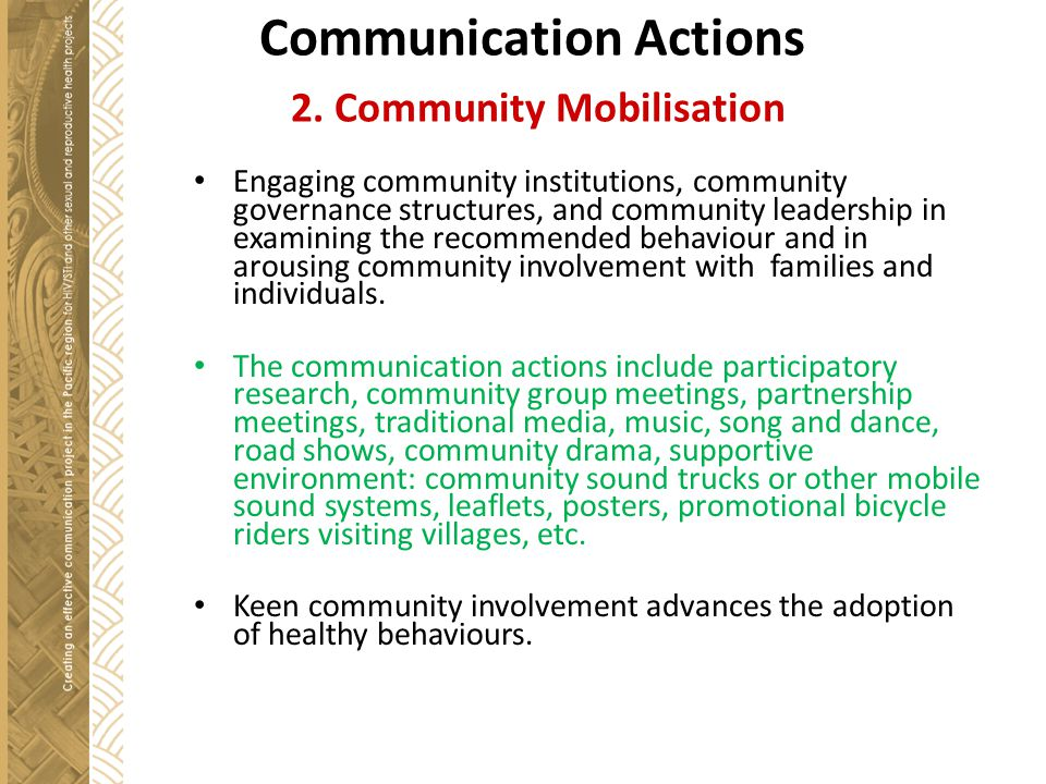 Communication Actions 2.
