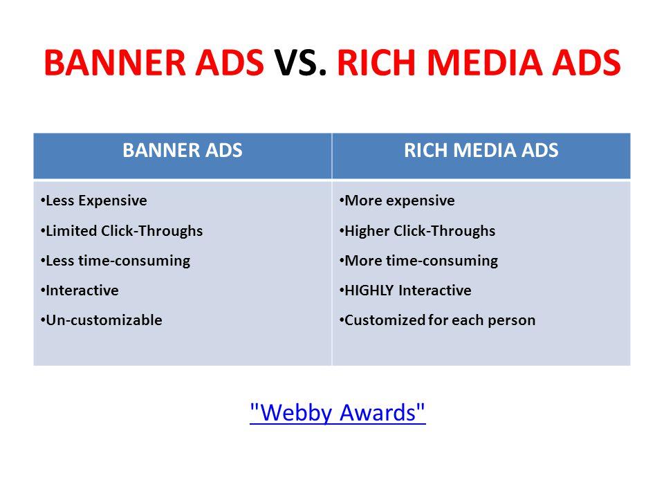 BANNER ADS VS.