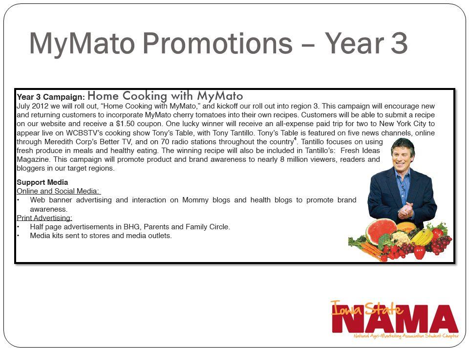 MyMato Promotions – Year 3