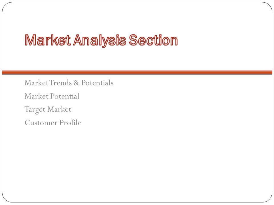 Market Trends & Potentials Market Potential Target Market Customer Profile