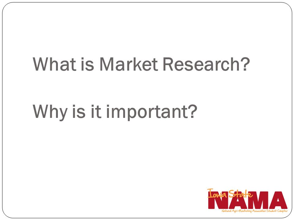 What is Market Research? Why is it important?