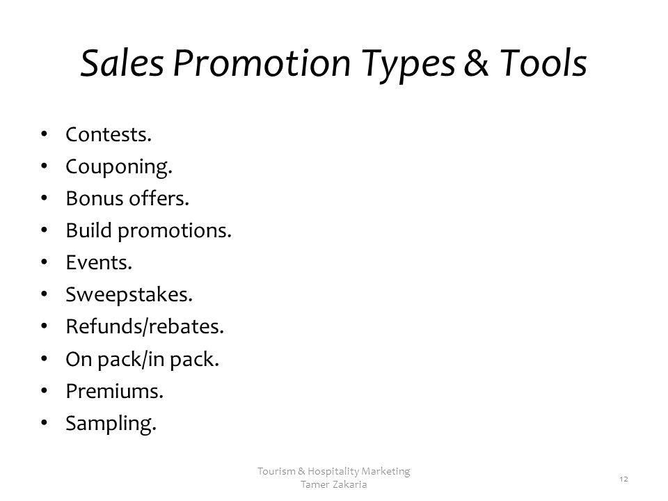 Sales Promotion Types & Tools Contests. Couponing.