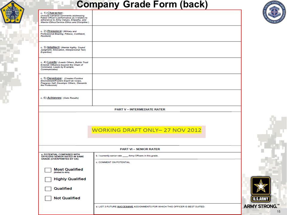 Company Grade Form (back) 15