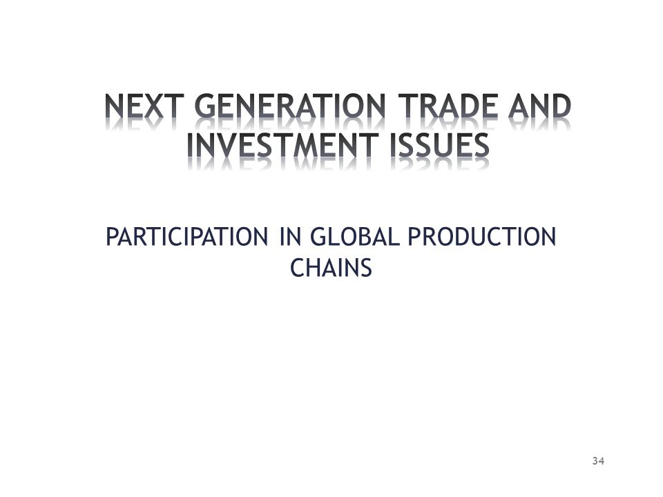 PARTICIPATION IN GLOBAL PRODUCTION CHAINS 34