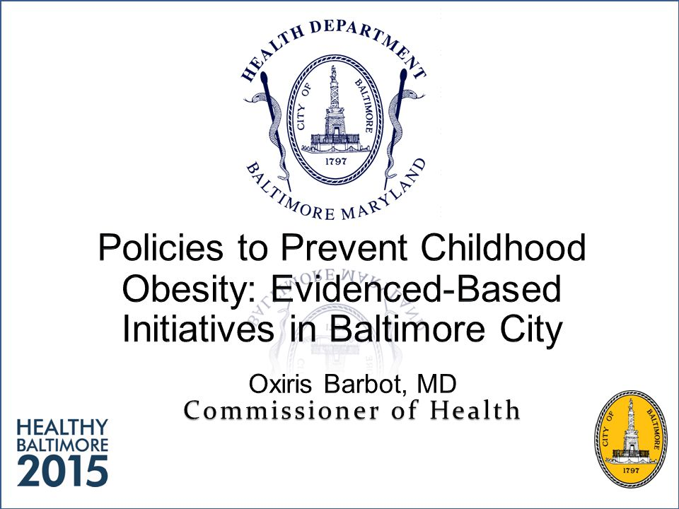 Overview Two major foci for the prevention/treatment of childhood obesity: – Increasing physical activity – Decreasing caloric consumption Guidance from Key Evidenced-Based Policy Recommendation Documents – Community focus – School focus