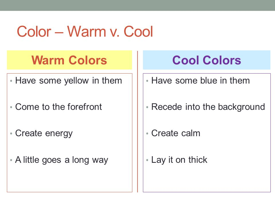 Color – Warm v.