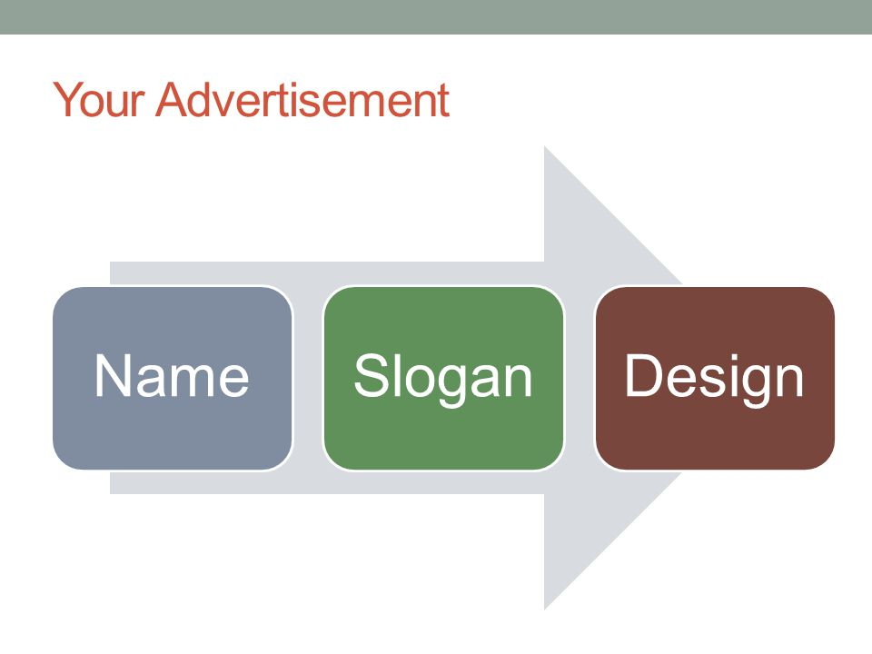 Your Advertisement NameSloganDesign